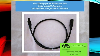 BEST PRICE MC3 3 ft Solar Extension Cable wh MC3 Connector FREE SHIP